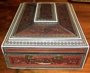 19C Anglo-Indian Padouk & Sadeli Sewing Box (4)