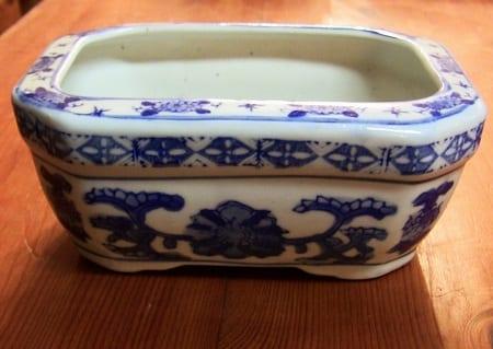 Chinese Blue & White Box-Mini Planter (2)