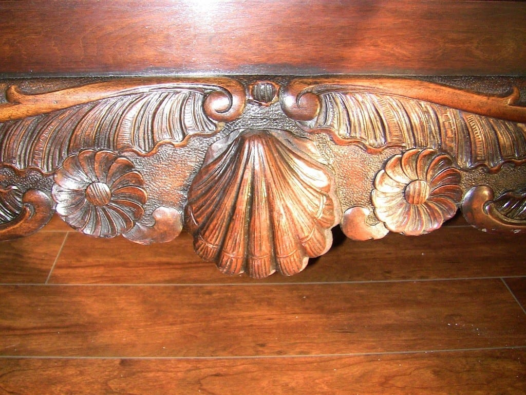 18C Irish Blanket Chest on carved stand