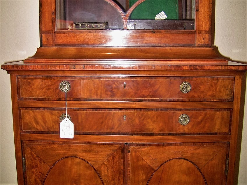 18C Sheraton Satinwood Display Cabinet (10)