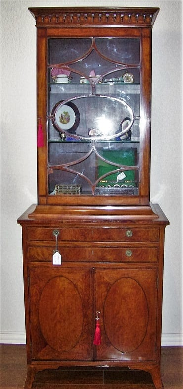 18C Sheraton Satinwood Display Cabinet (12)