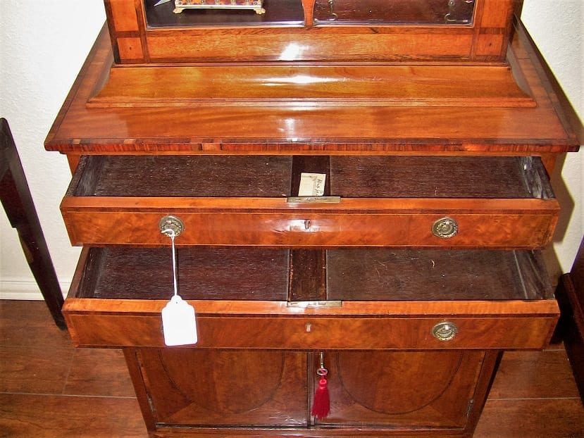 18C Sheraton Satinwood Display Cabinet (2)