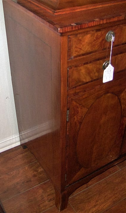 18C Sheraton Satinwood Display Cabinet (7)