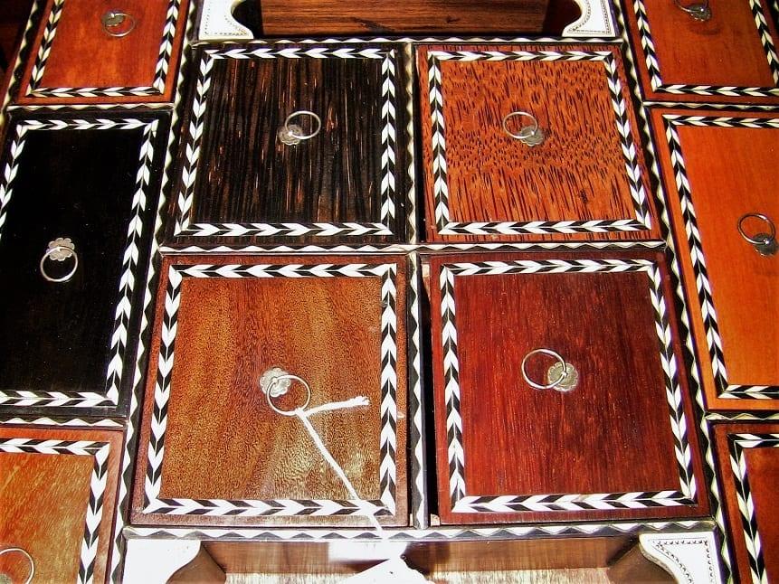 19C Anglo Ceylonese Specimen Wood Stationary Tray (3)