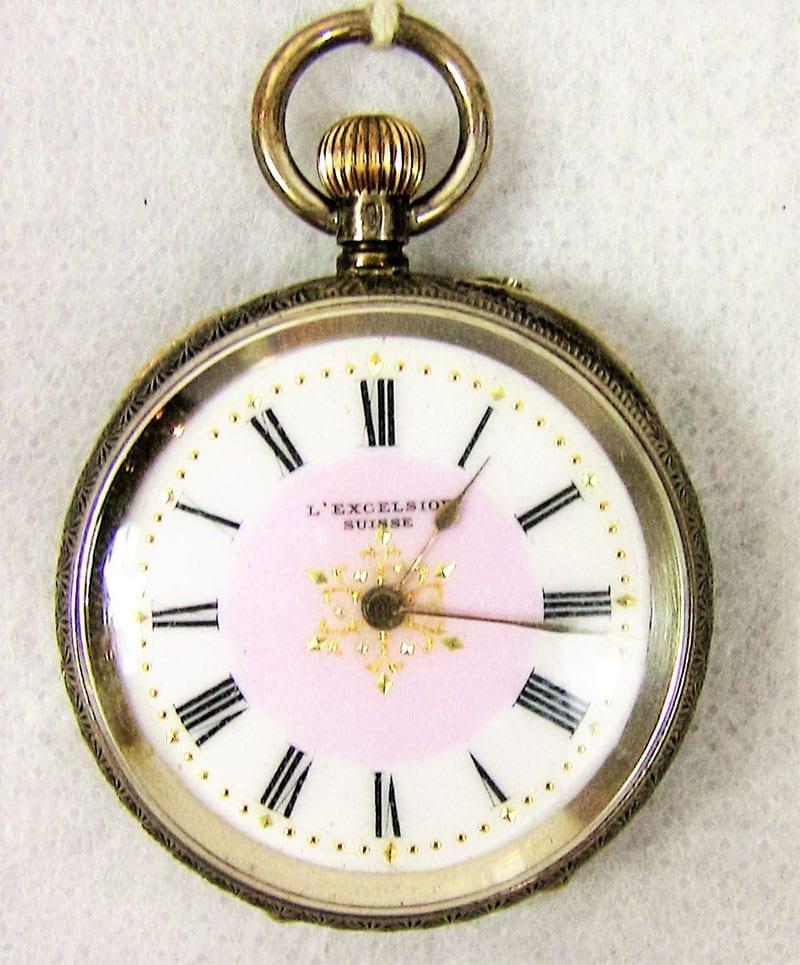 19C Solid Silver Swiss Ladies Pocket Watch