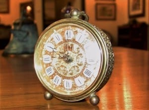 20C German Travel Clock