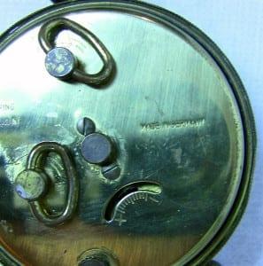 Early 20C German Miniature Clock Rear