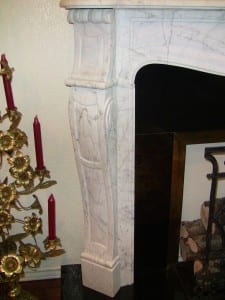 Irish White Marble Fireplace - Complete (2)