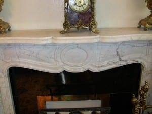 Irish White Marble Fireplace - Complete (4)