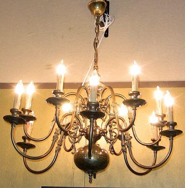 19C 12 branch chandelier