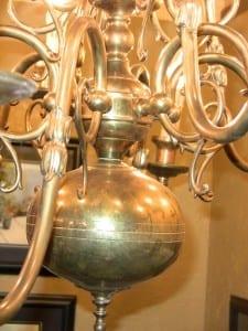 19C Dutch Baroque Brass 12 Arm Chandelier (5)