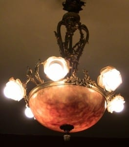 19C French Ormolu and Alabaster Chandelier (3)