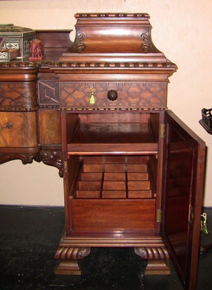 Early 19C Chinese Chippendale Buffet/Sideboard