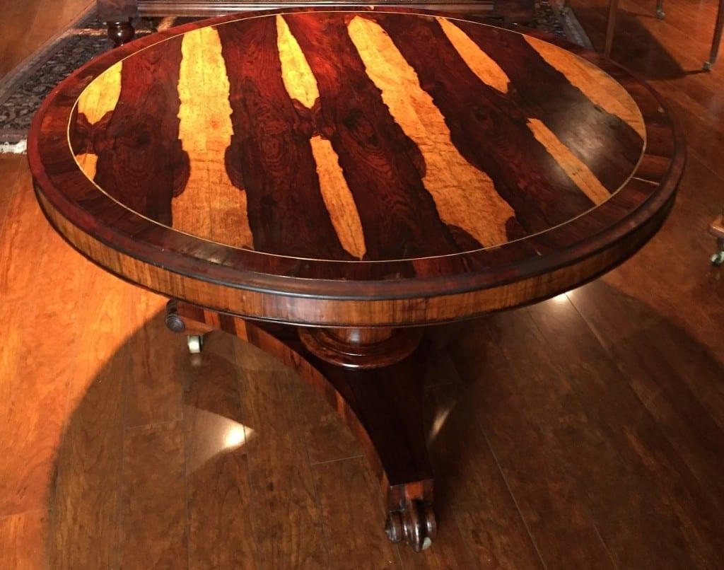 19C British Regency Rosewood Tilt top Center Table