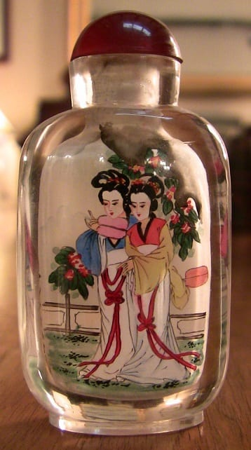 Chinese Inside Painted Glass Snuff Bottle Rockwell Antiques Dallas