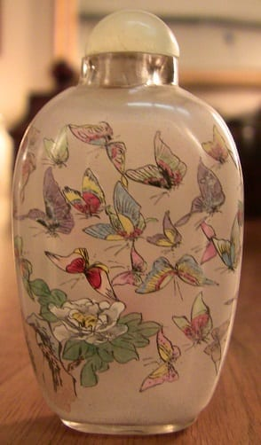 Pair of Chinese Inside painted glass snuff bottles (2)