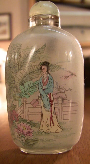 Pair of Chinese Inside painted glass snuff bottles (3)