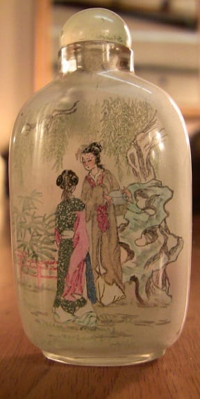 Pair of Chinese Inside painted glass snuff bottles (4)