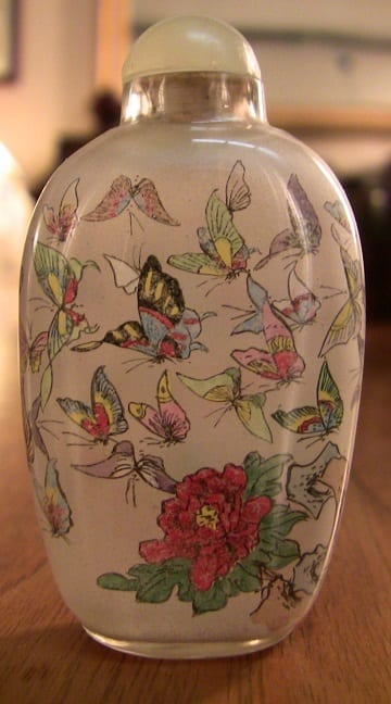 Pair of Chinese Inside painted glass snuff bottles