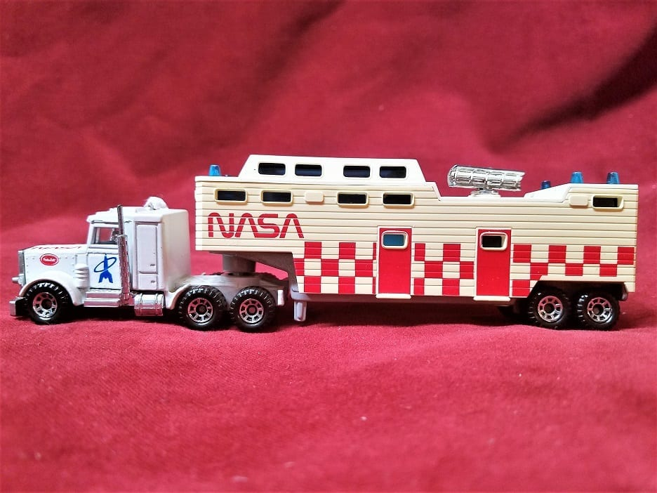 Vintage 1981 Matchbox Nasa Truck And Low Bed Trailer